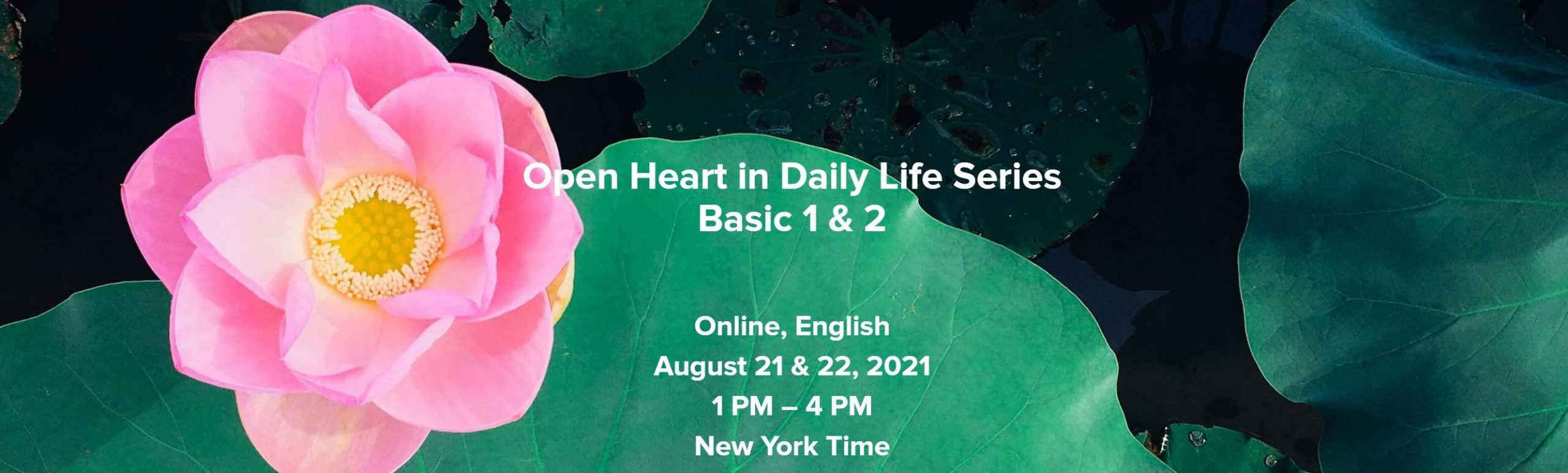 Read more about the article Announcing the Open Heart in Daily Life Mini-Series